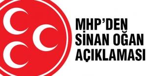MHP'den Sinan Oğan'la ilgili önemli açıklama