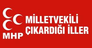 MHP'nin Milletvekili çıkardığı iller