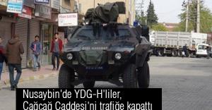 Nusaybin'de YDG-H'liler, Yolu Trafiğe Kapattı