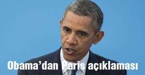 Obama'dan Paris açıklaması...
