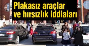 Okullarda plakasız araçlar ve hırsızlık iddiaları