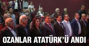 Ozanlar, Atatürk'ü andı