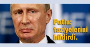 Putin, Paris'te ölenler için taziyelerini bildirdi
