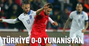 Türkiye-Yunanistan maçı berabere bitti