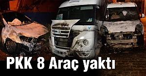 Adana'da PKK Yandaşları 8 Aracı Yaktı