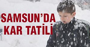 Bugün Samsun'da Okullar Tatil