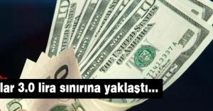 Dolar 3.0 lira sınırına yaklaştı...
