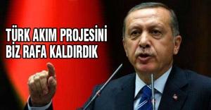 Erdoğan: Türk Akımı projesi tarafımızdan rafa kaldırılmıştır