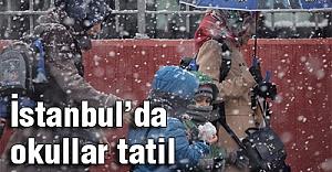 İstanbul'da okullar tatil oldu