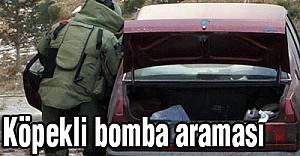 Köpekli bomba araması...