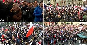 Polonyalılar sokaklara döküldü