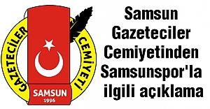 Samsun Gazeteciler Cemiyetinden Samsunspor'la ilgili açıklama