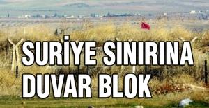 Suriye Sınırına Beton Blok çekiliyor