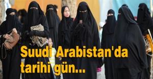 Suudi Arabistan'da tarihi gün...