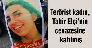 Terörist kadın, Tahir Elçi'nin cenazesine katılmış