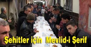 Turgutlu'da Şehitler için  Mevlid-i Şerif okutuldu