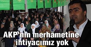 Zeydan: AKP'nin merhametine ihtiyacımız yok