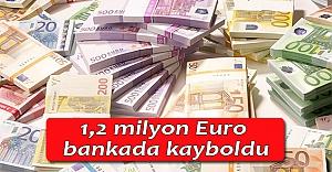 1,2 milyon Euro bankada kayboldu