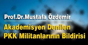 Akademisyen Denilen PKK Militanlarının Bildirisi