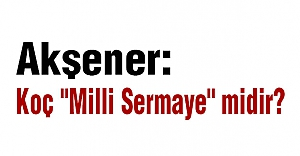 """Akşener: Koç """"Milli Sermaye"""" midir?"""