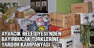 Ayvacık Belediyesi'nden Buyırbucak Türkmenlerine yardım seferberliği