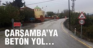 Çarşamba'da Beton Yol...