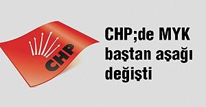 CHP MYK baştan aşağı değişti