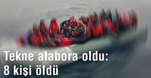 Ege'de Tekne alabora oldu: 8 kişi öldü