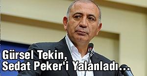 Gürsel Tekin, Sedat Peker'i Yalanladı...