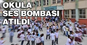 Karne günü okula ses bombası atıldı
