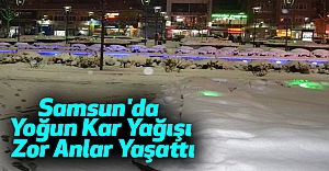 Samsun'da Yoğun Kar Yağışı Zor Anlar Yaşattı
