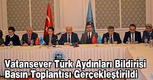 Türk Aydınları Bildirisi Basın Toplantısı