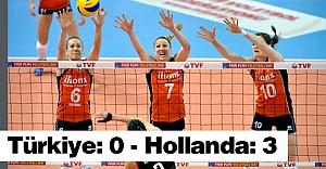 Türkiye: 0 - Hollanda: 3