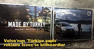 Volvo'nun 'Türkiye yaptı' reklamı İsveç'te billboardlarında
