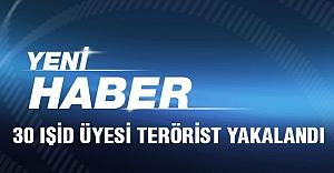 30 IŞİD terör örgütü üyesi yakalandı