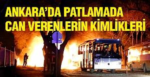 Ankara'daki Patlamada Can Verenlerin Kimlikleri...