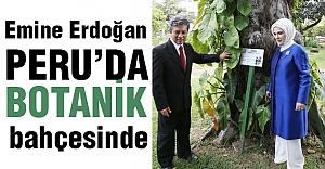 Emine Erdoğan, Botanik Bahçesinde...