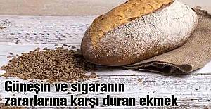 Güneşin ve sigaranın  zararlarına karşı duran ekmek
