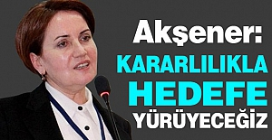 Meral Akşener: Kararlılık Mesajı verdi