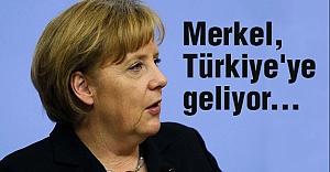 Merkel, Türkiye'ye Geliyor...