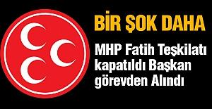 MHP Fatih Teşkilatı kapatıldı Başkan Görevden Alındı