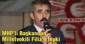 MHP'li Başkandan Milletvekili Filiz'e tepki
