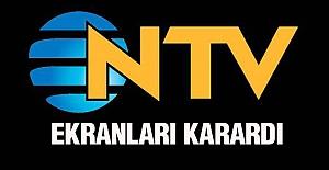NTV kanalı bir anda siyah ekrana düştü.