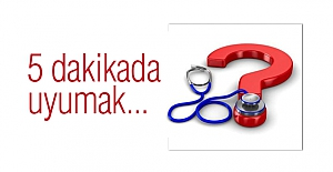 Prof.Dr. Özdemir: 5 dakikada uyumak...