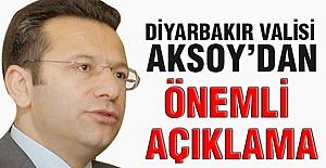Diyarbakır Valisi Aksoy'dan Önemli Açıklama!