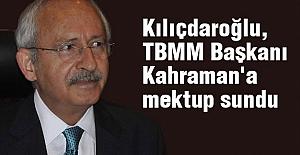 Kılıçdaroğlu, TBMM Başkanına Mektup