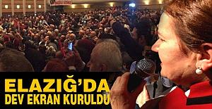 Meral Akşener İçin Elazığ'da Dev Ekran Kuruldu...