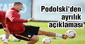 Podolski'den ayrılık açıklaması