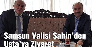Samsun Valisi Şahin'den Erhan Usta