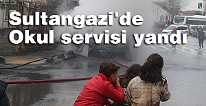 Sultangazi'de Okul Servisi Yandı